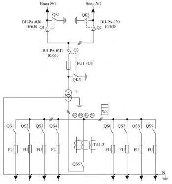 принципиальная схема трансформаторной подстанции
